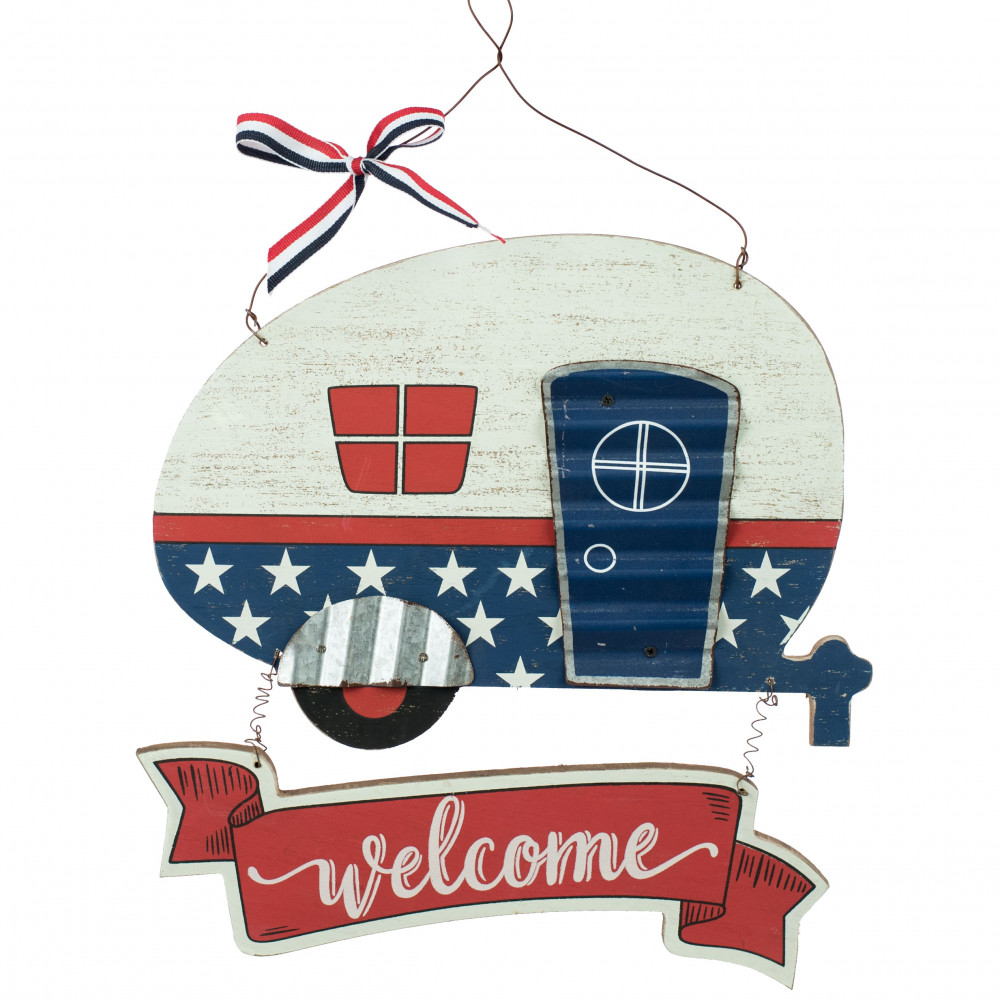 13 Fourth Of July Welcome Camper Sign