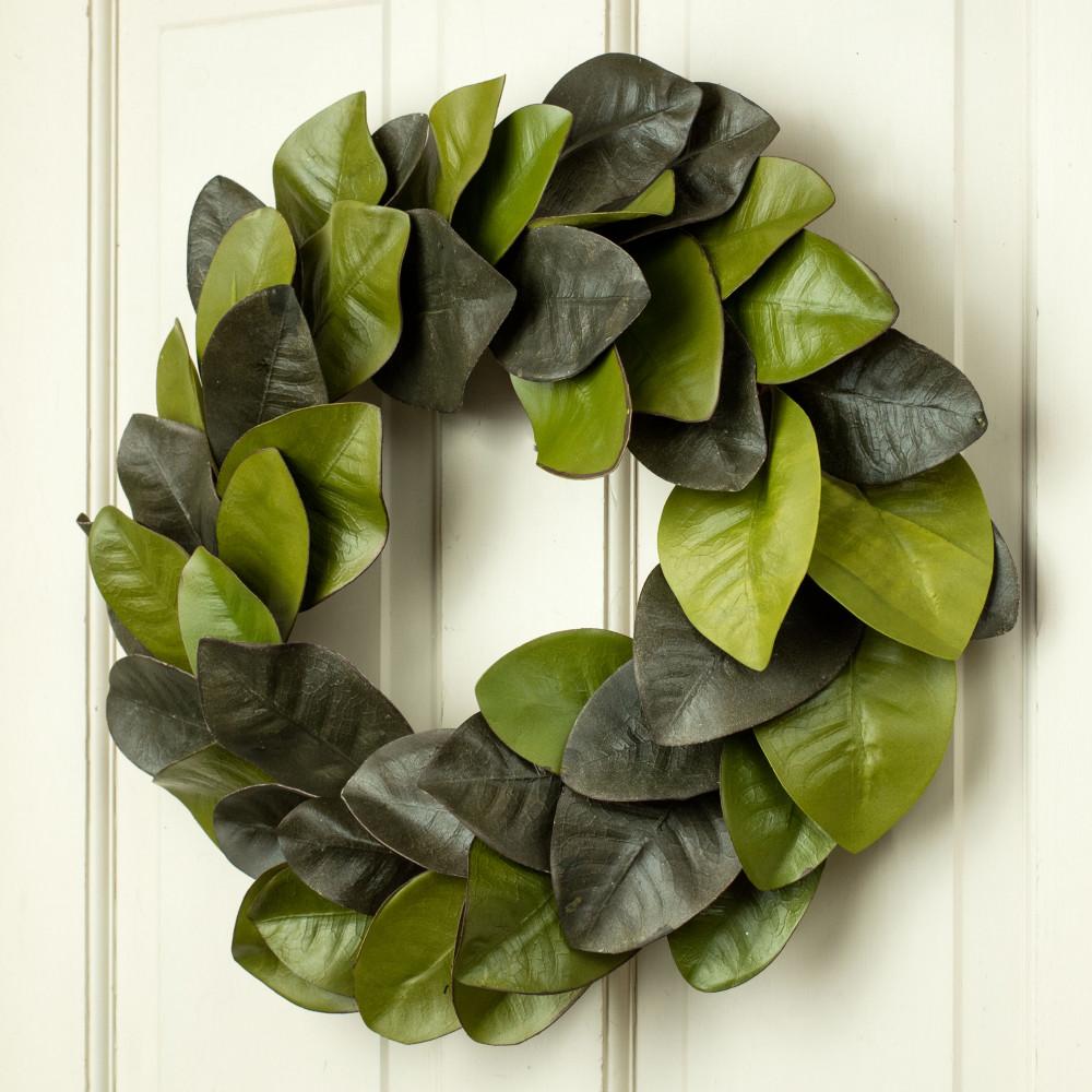 22 magnolia leaves wreath isb69600 craftoutlet com