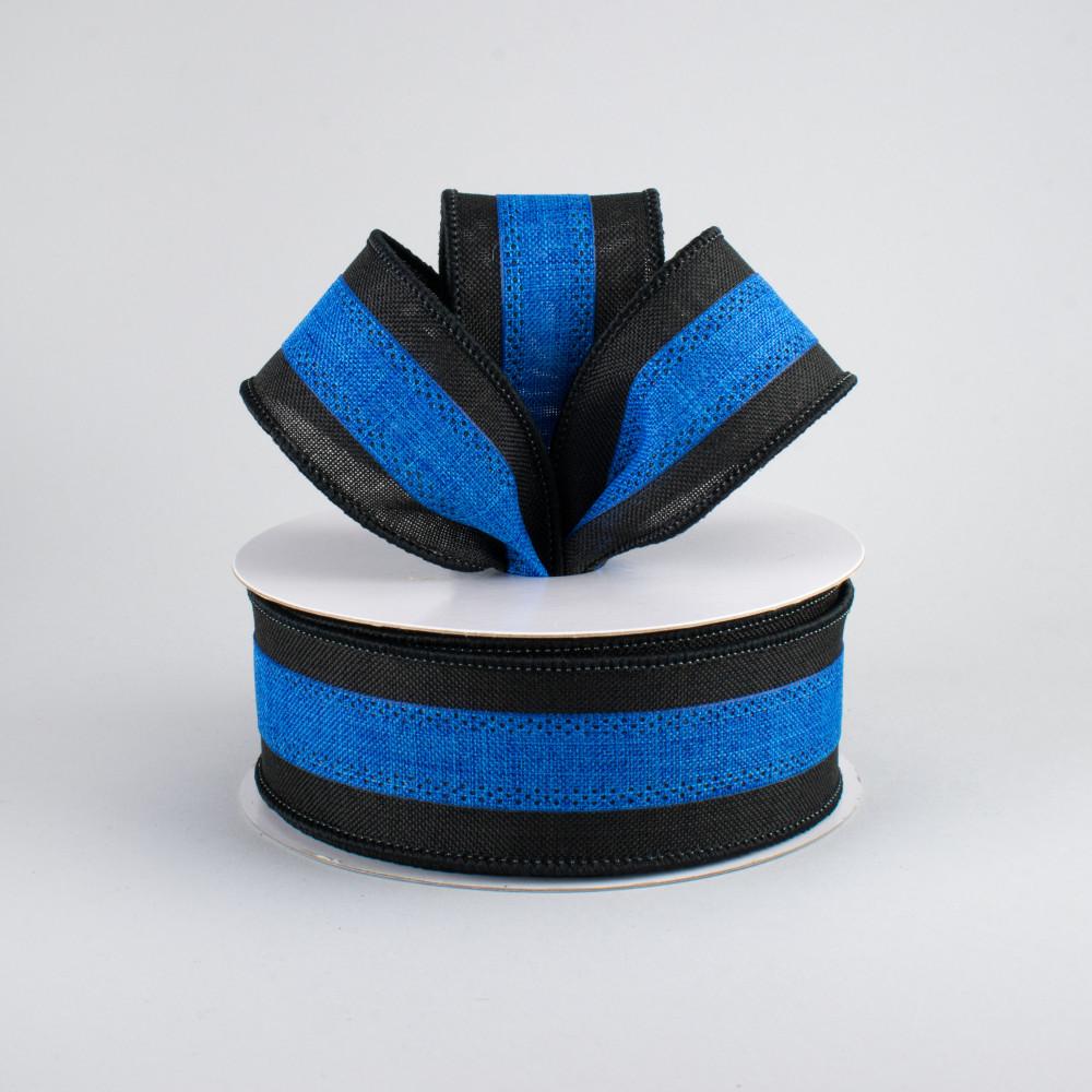 15 police support ribbon black blue 10 yards