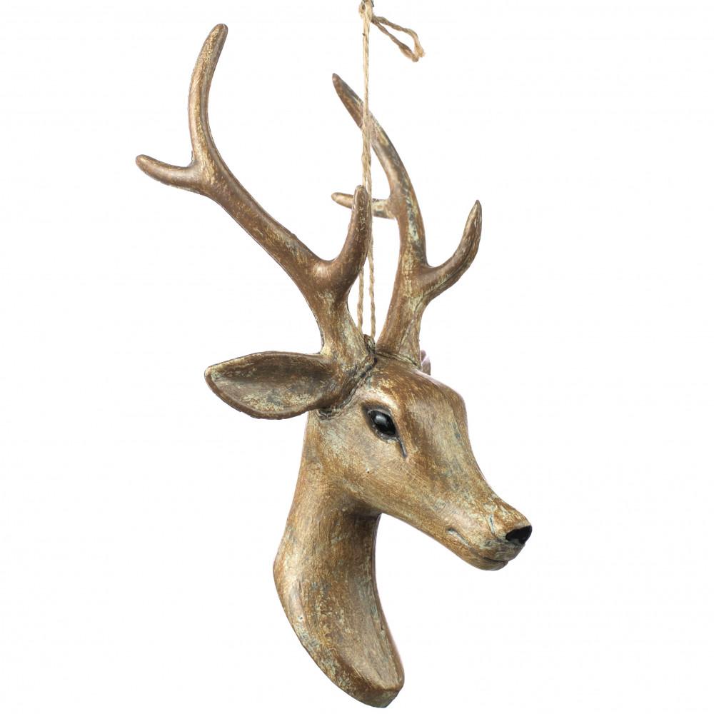 Wooden Deer Head Ornaments