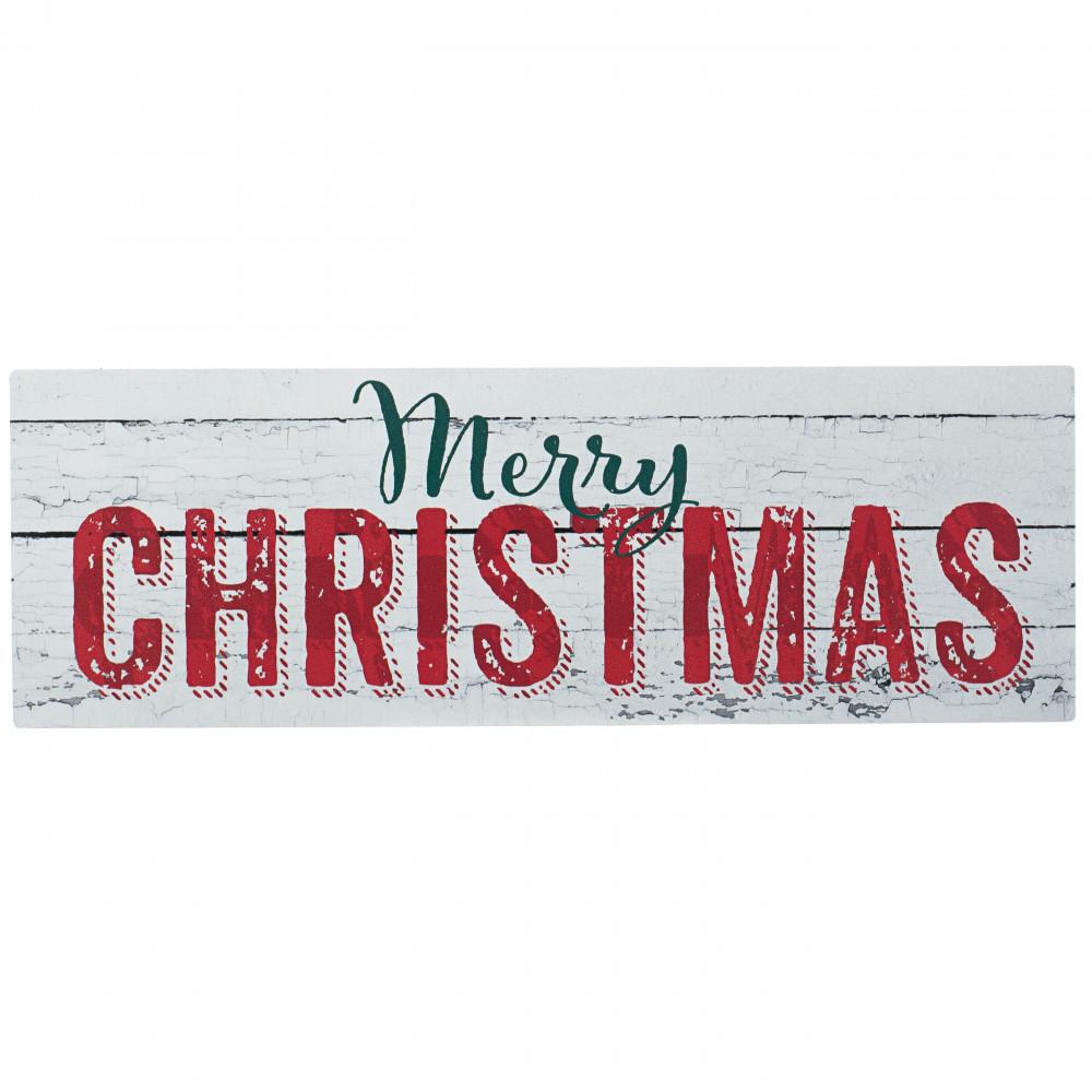 Waterproof Merry Christmas Rustic Sign 5 X 15