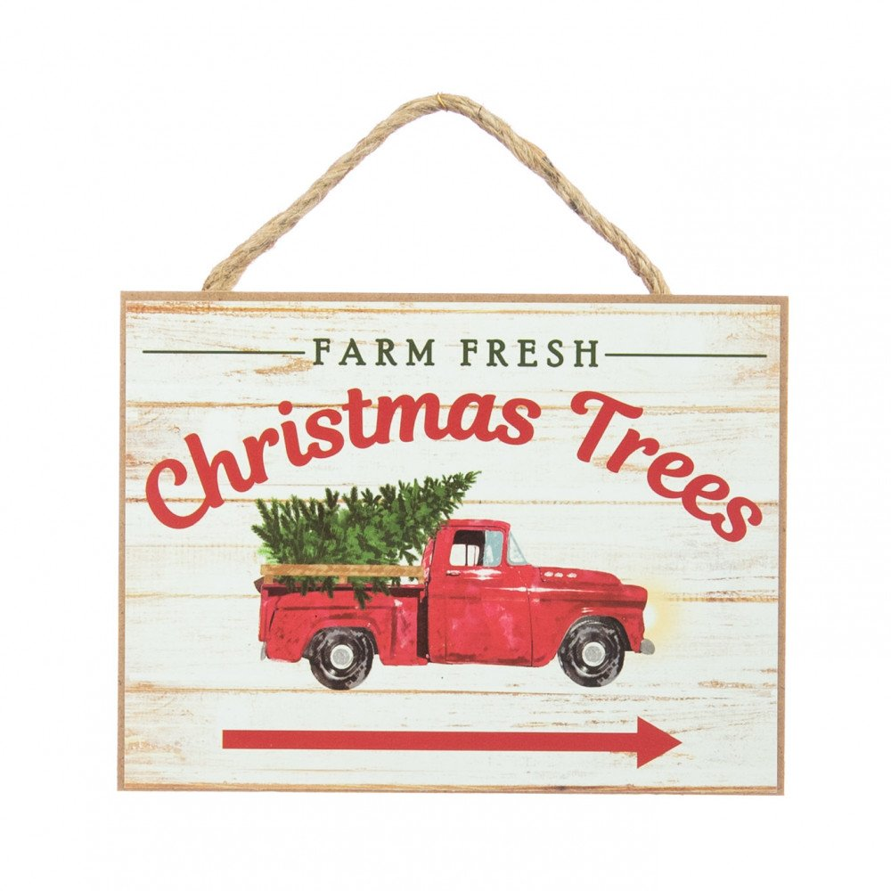"6.5"" Wooden Sign: Farm Fresh Christmas Trees [AP8222 ..."
