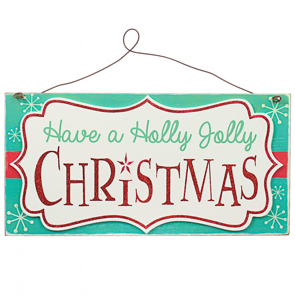 """13"""" Holly Jolly Christmas Sign [30056838A]"""