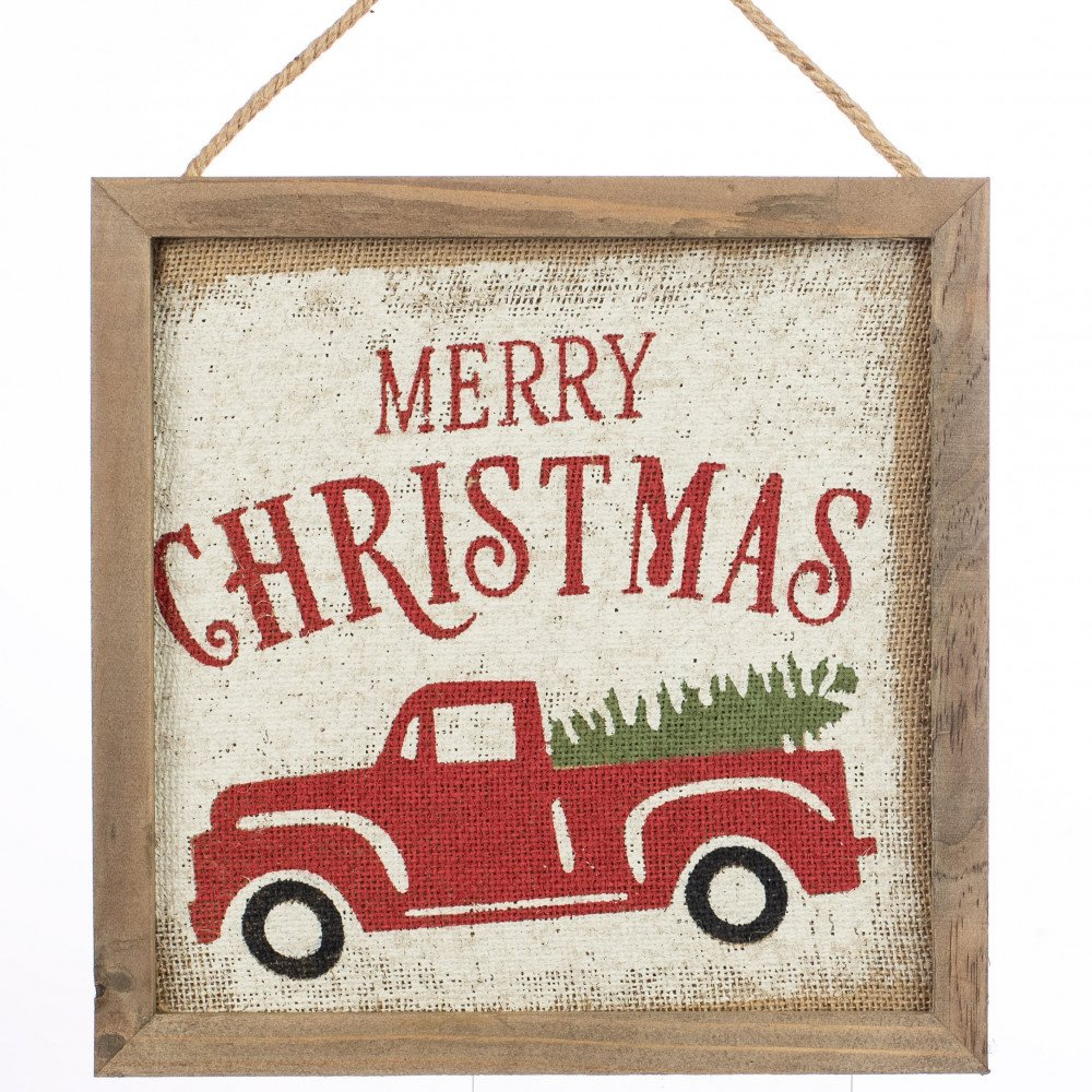 12 merry christmas vintage truck hanger - Vintage Merry Christmas