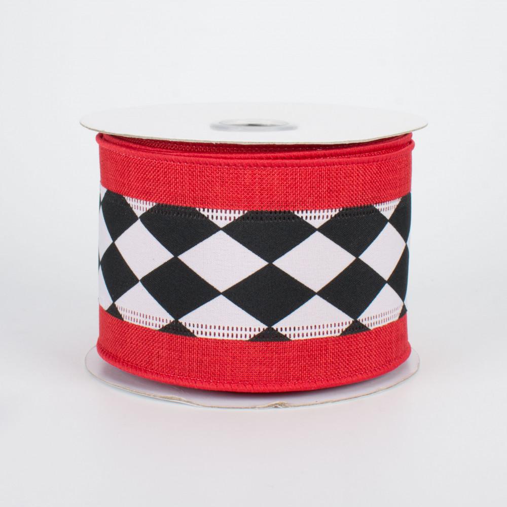 2 5 Harlequin Center Stripe Ribbon Red Edge 10 Yards Xh002 4 31 Craftoutlet Com