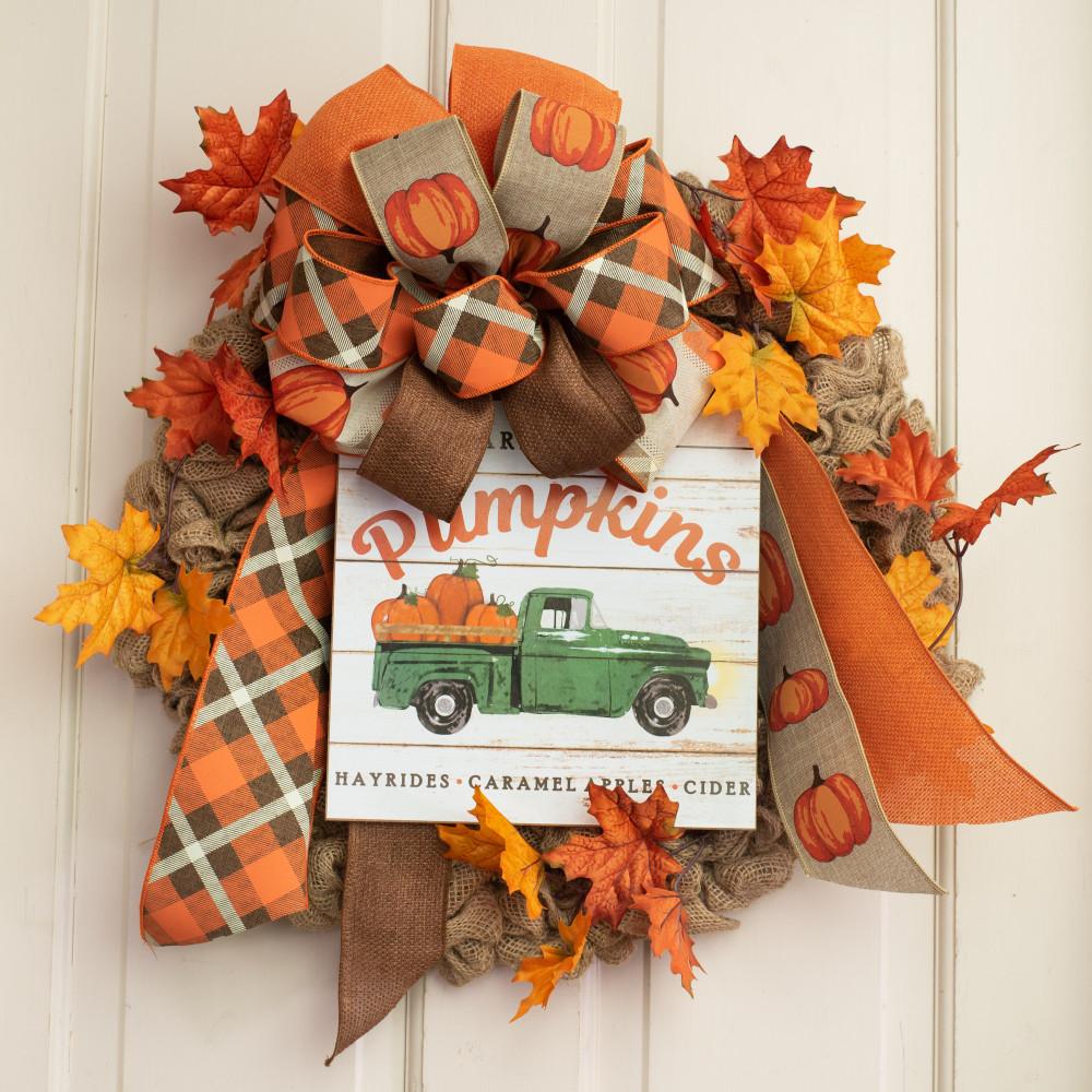 """Farm Fresh Pumpkins AP8280 NEW 10/"""" Wooden Sign"""