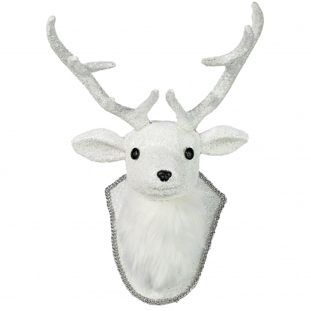Deer Head Mount >> 12 Glittered Deer Head Mount Plaque Ornament 271133 Craftoutlet Com