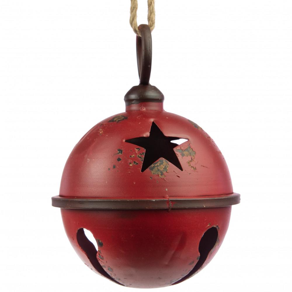 "9"" Jumbo Jingle Bell: Antique Dark Red [XC422231"