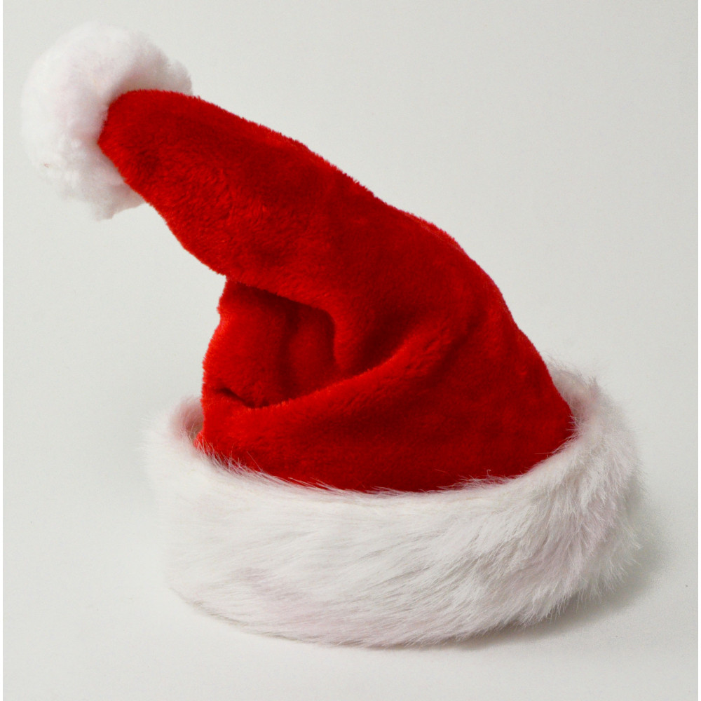 Santa Claus is coming to town and now everyone can dress as Santa with our felt Christmas Hat for Santa. Each felt Santa Hat is trimmed with a 1 1/2