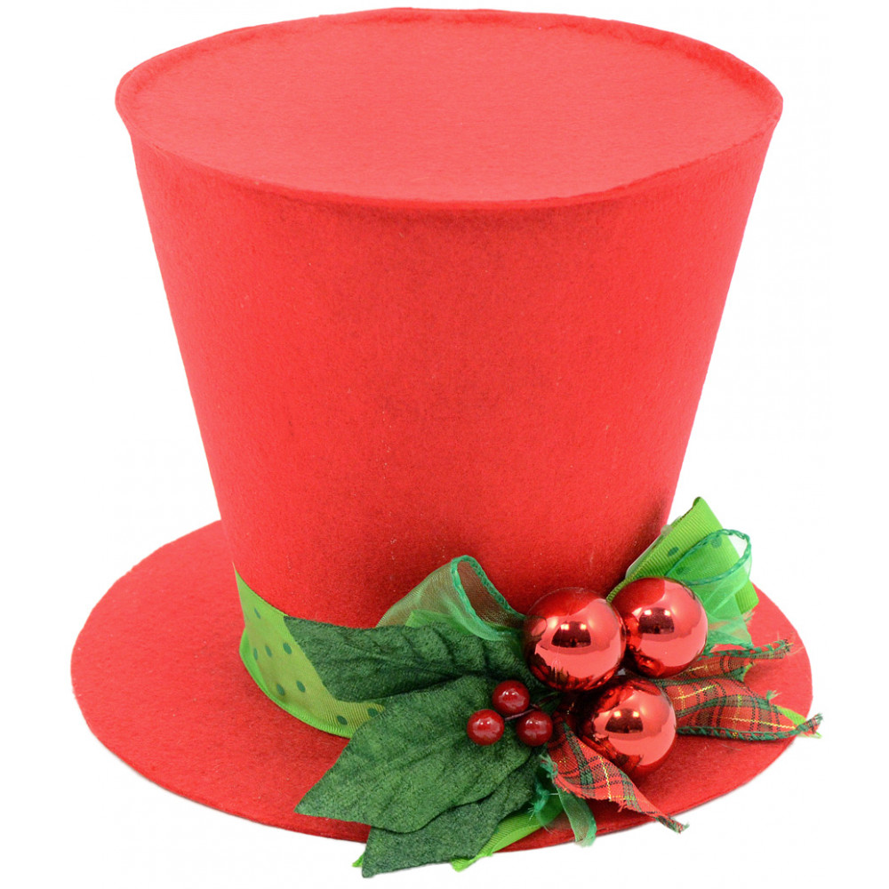 red christmas top hat