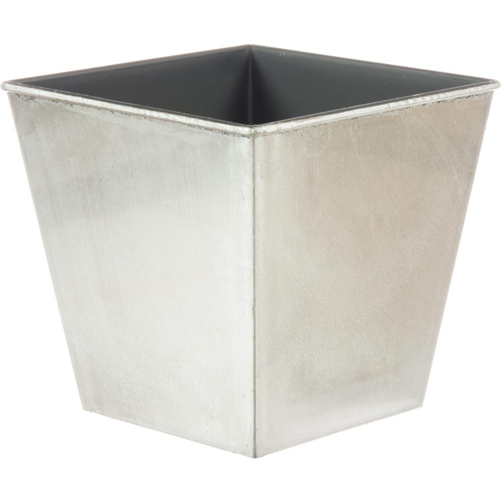 """Silver Planter: 5"""" Square Lacquer Planter: Metallic Silver [P0220SVR"""