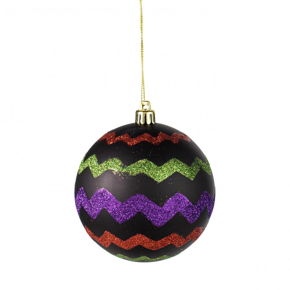 100mm Chevron Ball Ornament Halloween Hh7407 Craftoutlet Com