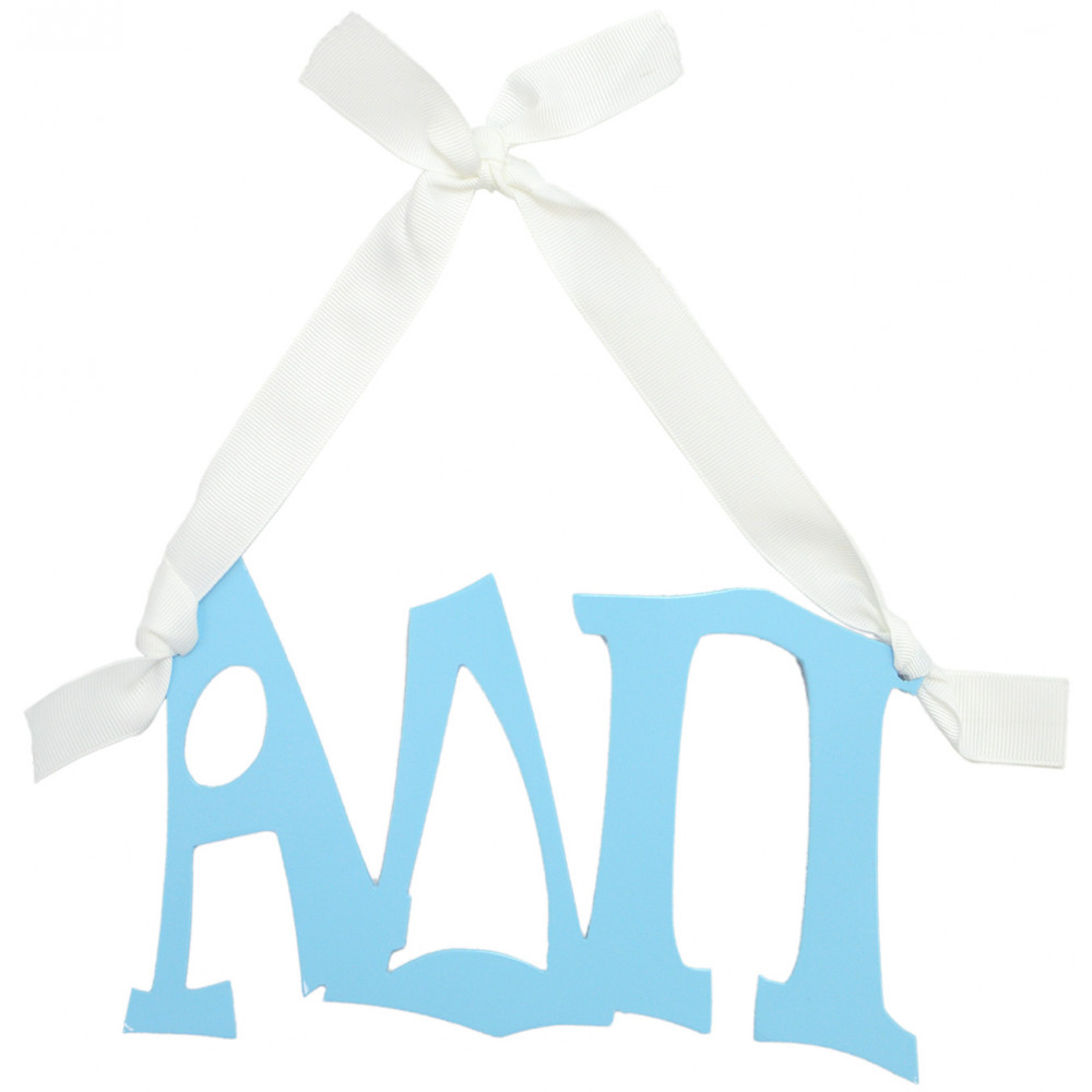 alpha delta pi sorority letters metal sign 8