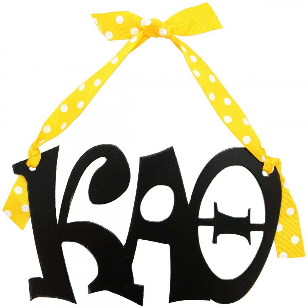 kappa alpha theta sorority letters metal sign 8