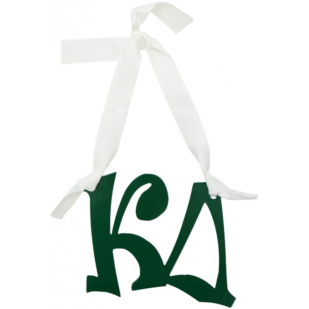 kappa delta sorority letters metal sign 8