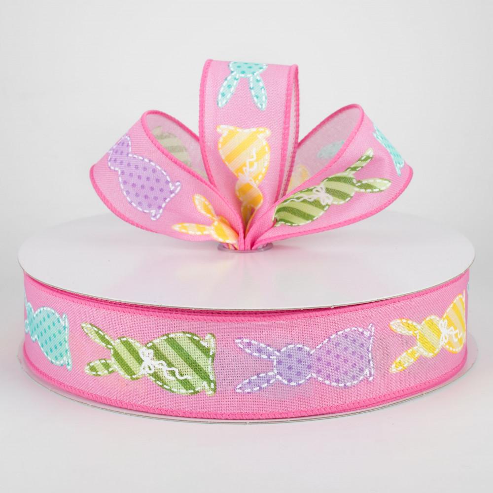 Pink Polka Dot Easter Ribbon Carrots Bunny Easter Ribbon Tulips 1 Easter Bunny grosgrain ribbon