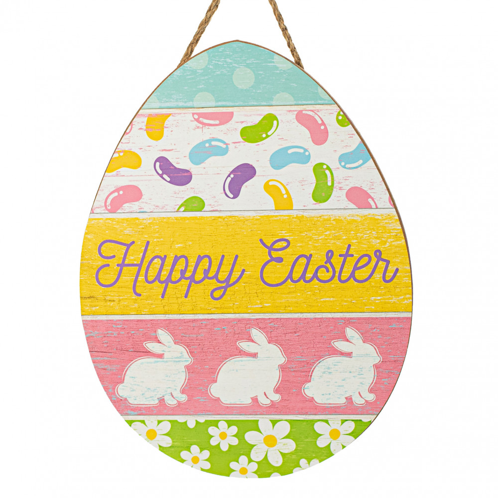 7.5x10.5 Metal Wreath Sign E#102 Vintage Card Easter Eggs Happy Easter