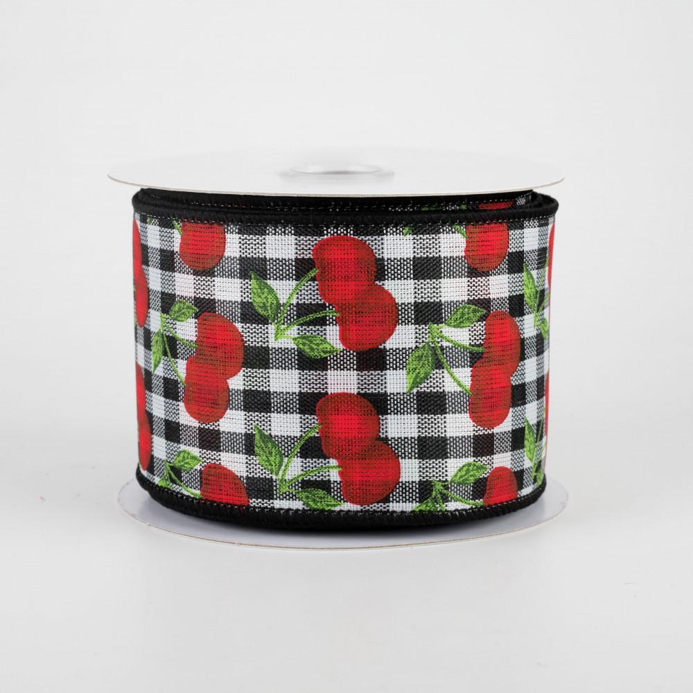 Natural 2.5 Cherries on Royal Ribbon 10 Yards