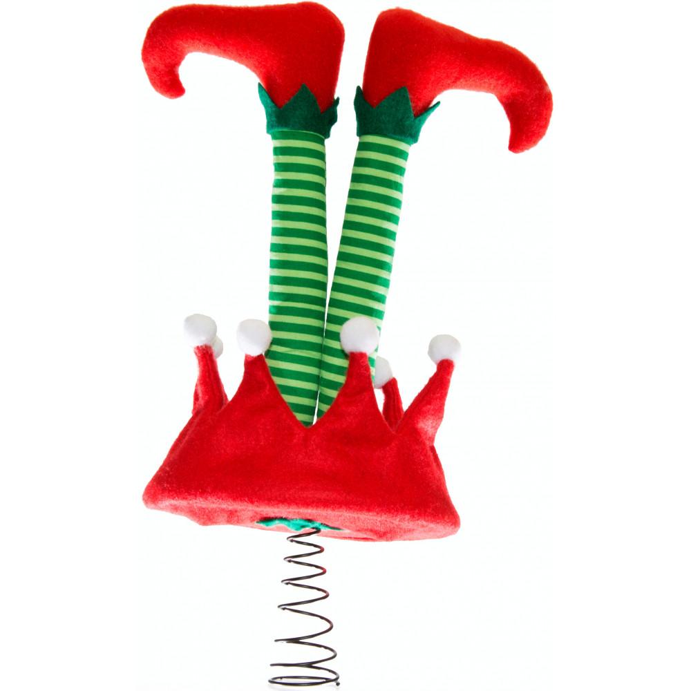 """10"""" Upside Down Elf Legs Tree Topper [2514-442 ..."""