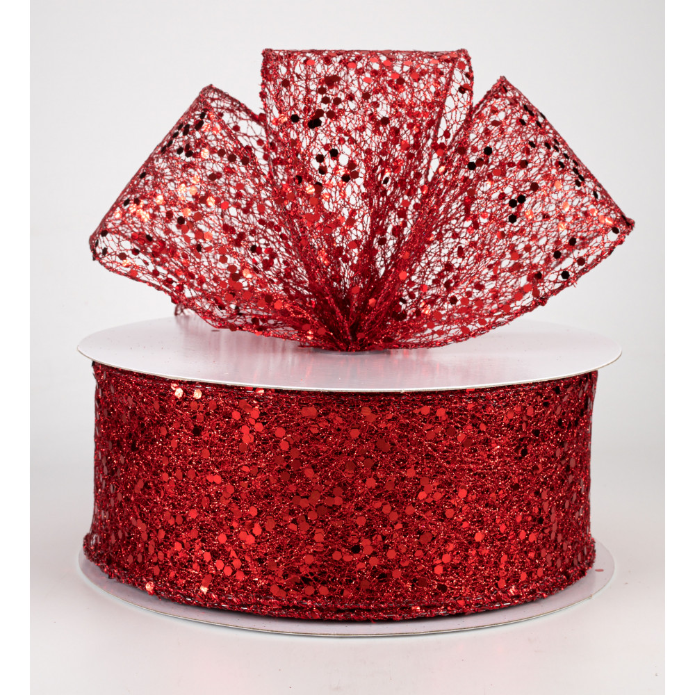 """Ribbon Glitter Mesh 2.5/""""// 6.5 cm x 9 metres gifting wrapping decorations"""