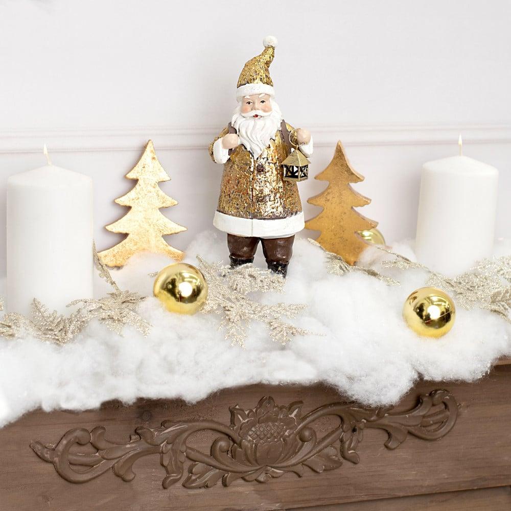 9 25 Resin Santa With Lantern Figurine Antique Gold Xn358108 Craftoutlet Com
