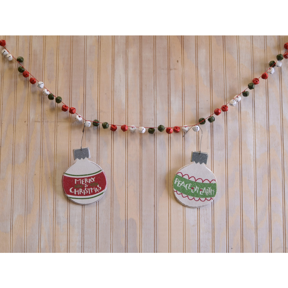 Jingle Bell Garland 48 Jingle Bell Garland Red Lime White Xc414731