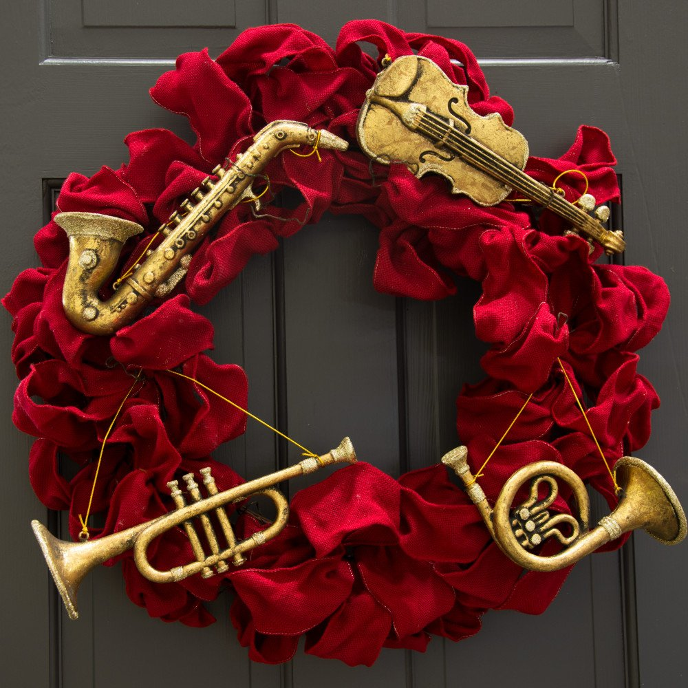 """8""""-11"""" Assorted Musical Instrument Ornaments: Gold (Set of ..."""