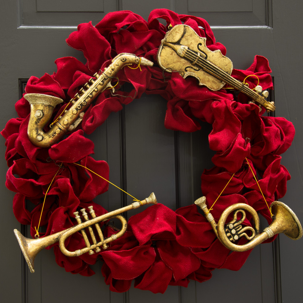 Musical Instruments Christmas Ornaments