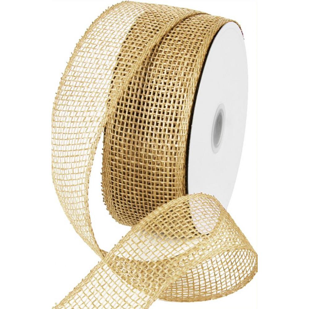 2 5 poly burlap mesh ribbon natural brown 20 yards for How to use burlap ribbon