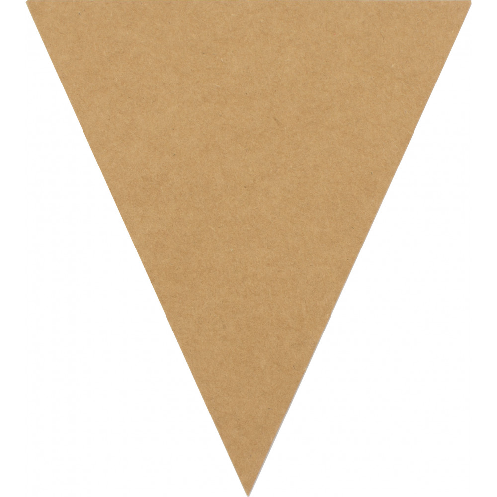 small cardboard paper triangle pennant banner tags 12
