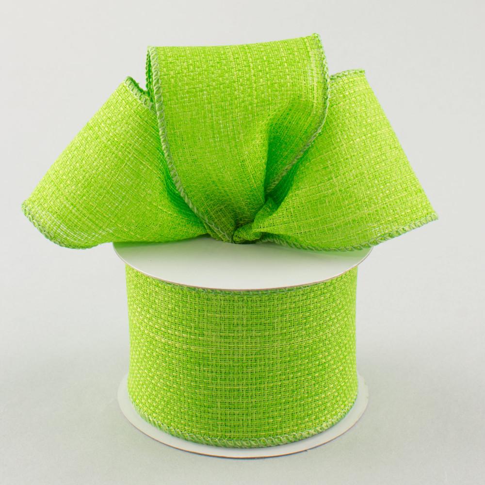 2 5 royal faux burlap ribbon lime green 10 yards for Green burlap ribbon