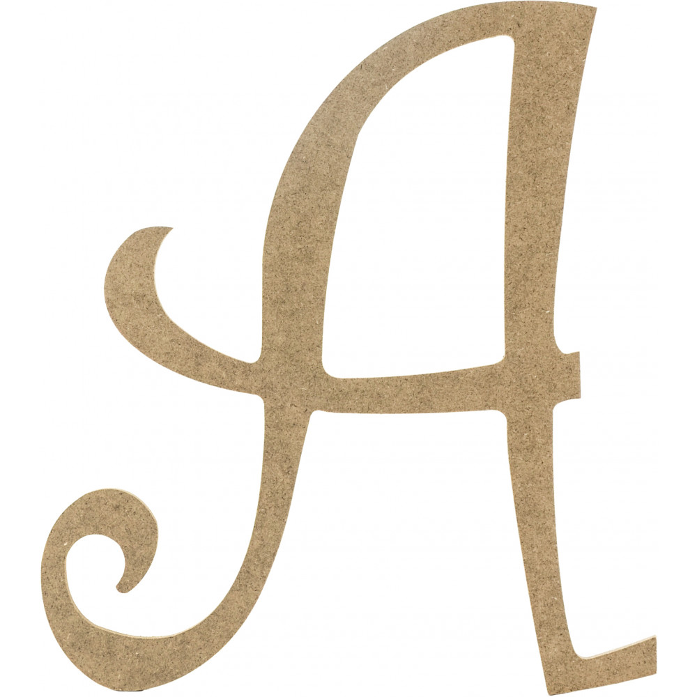 14 Decorative Wooden Curly Letter A
