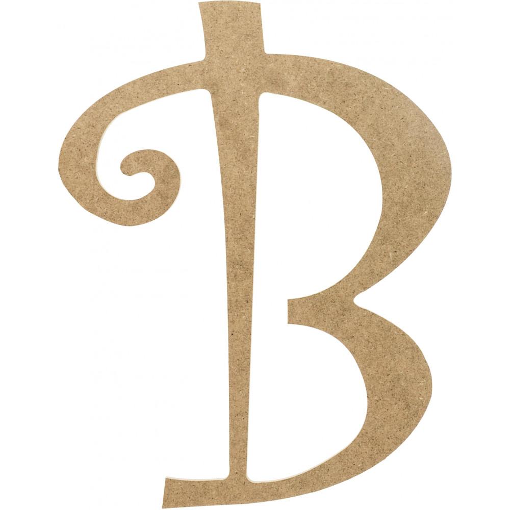 14 decorative wooden curly letter b ab2146. Black Bedroom Furniture Sets. Home Design Ideas