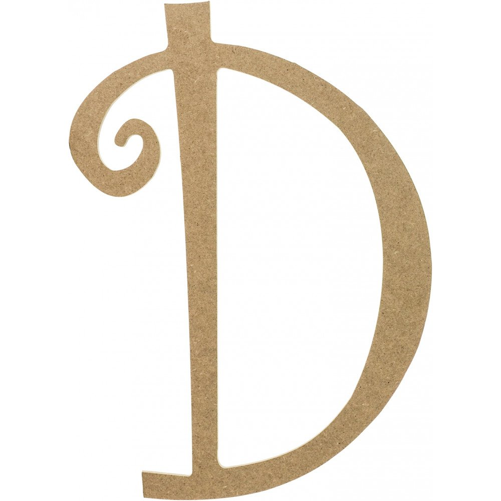 14 Quot Decorative Wooden Curly Letter D Ab2148