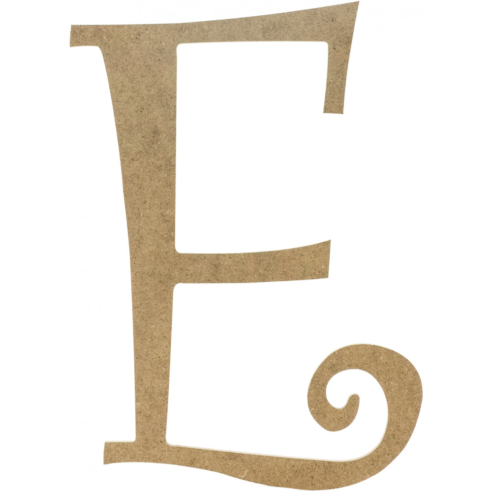 "14"" Decorative Wooden Curly Letter: E [AB2149 ..."