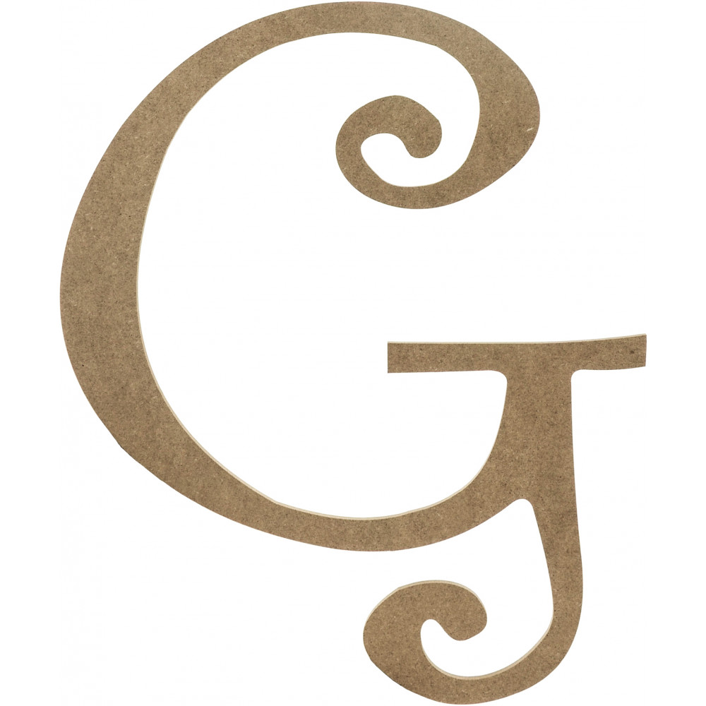 14 Decorative Wooden Curly Letter G Ab2151 Craftoutlet