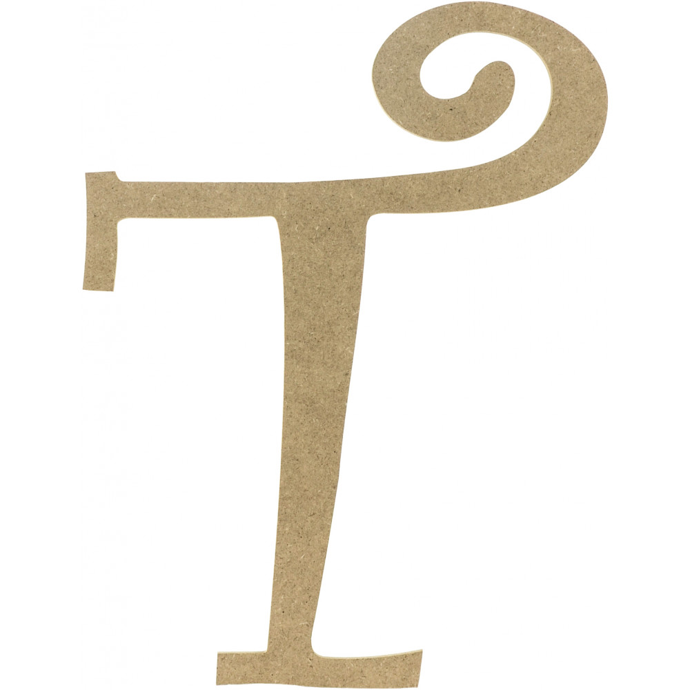 14 Quot Decorative Wooden Curly Letter T Ab2164