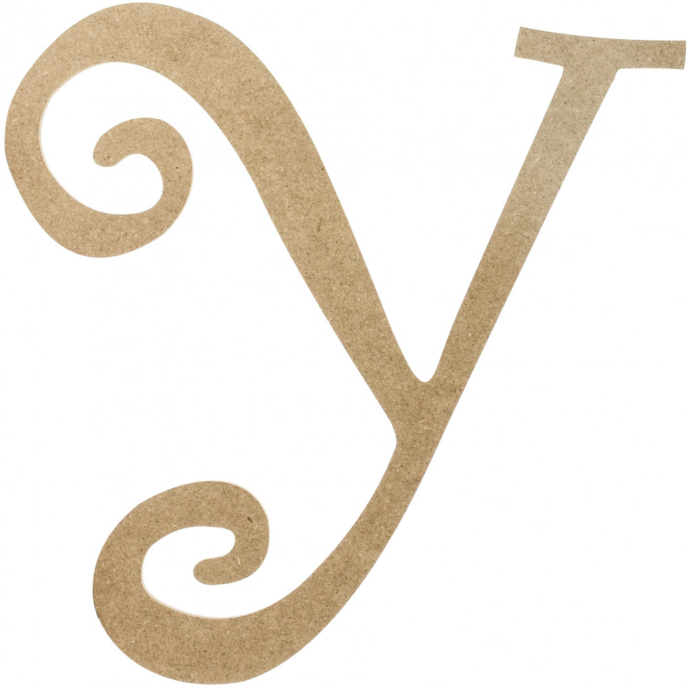 14 Quot Decorative Wooden Curly Letter Y Ab2169