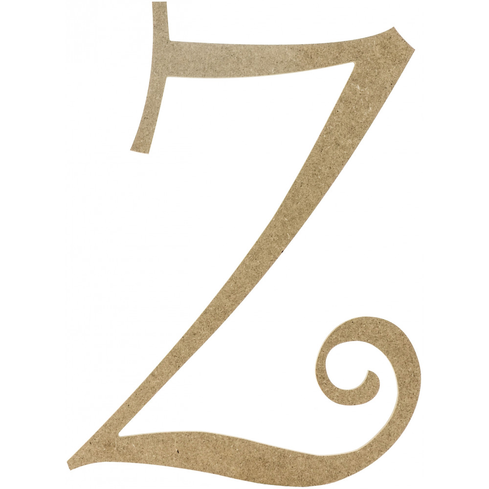 14quot decorative wooden curly letter z ab2170 With wooden letter z
