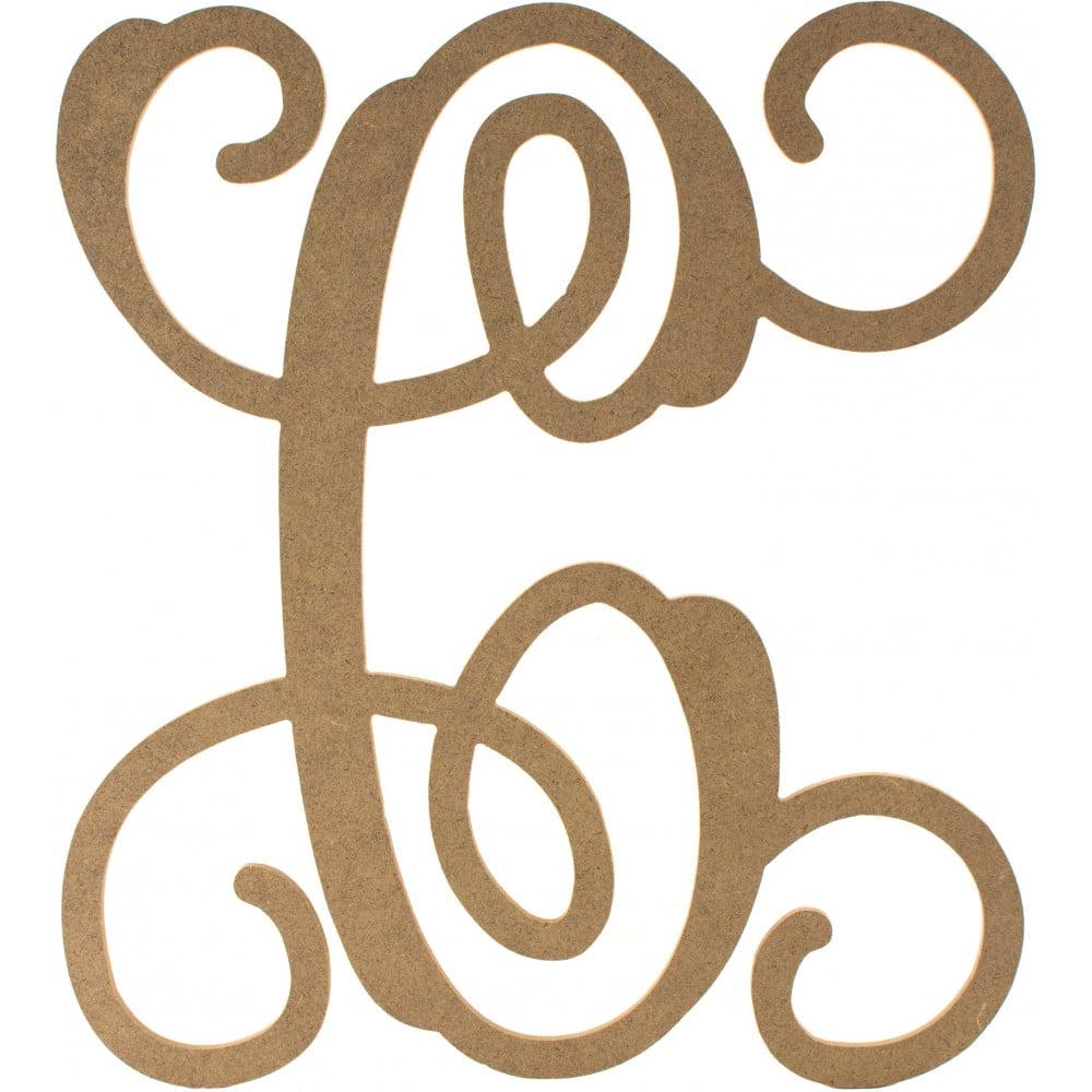 12 u0026quot  wood letter vine monogram  c  ab2198