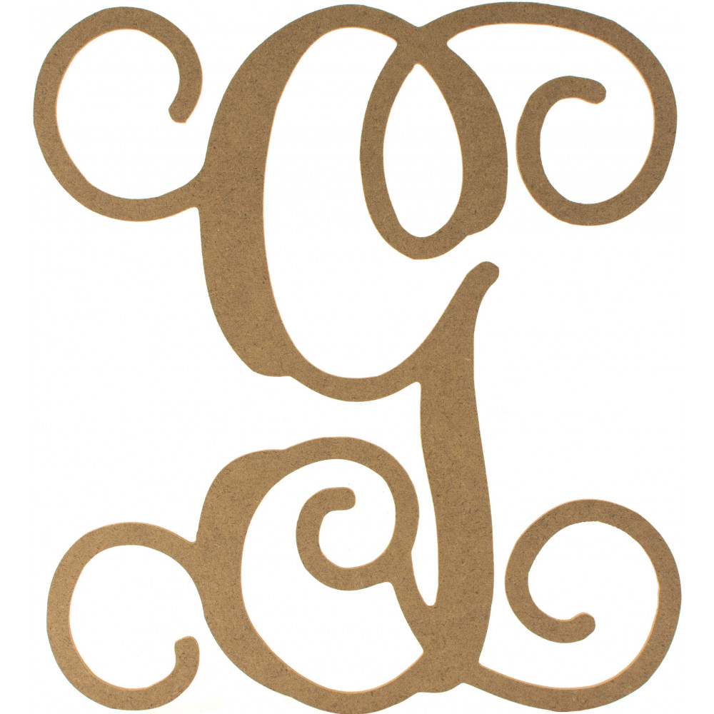 12 wood letter vine monogram g ab2202 for Monogram homes