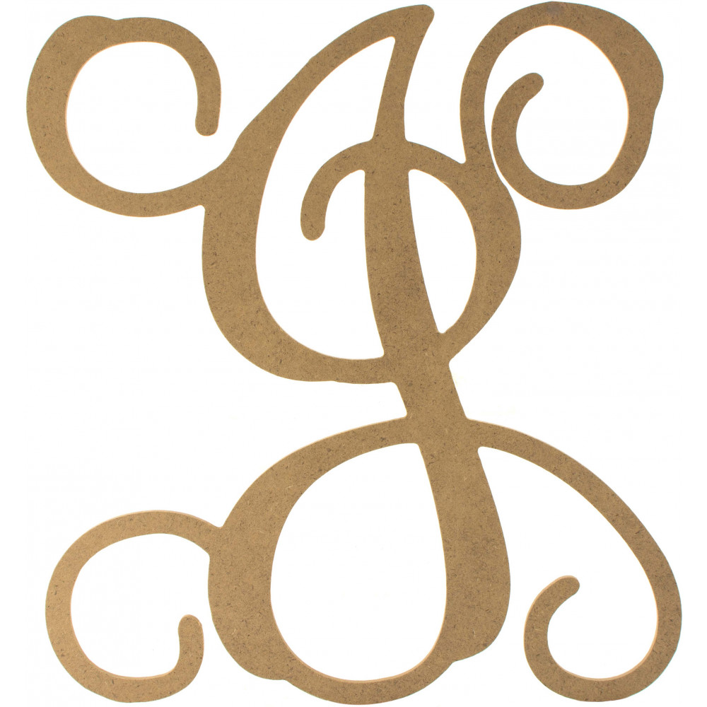 12quot wood letter vine monogram j ab2205 craftoutletcom With vine monogram letters