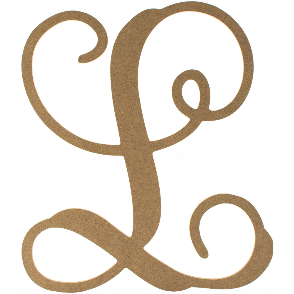 12quot wood letter vine monogram l ab2207 craftoutletcom With monogram letter l