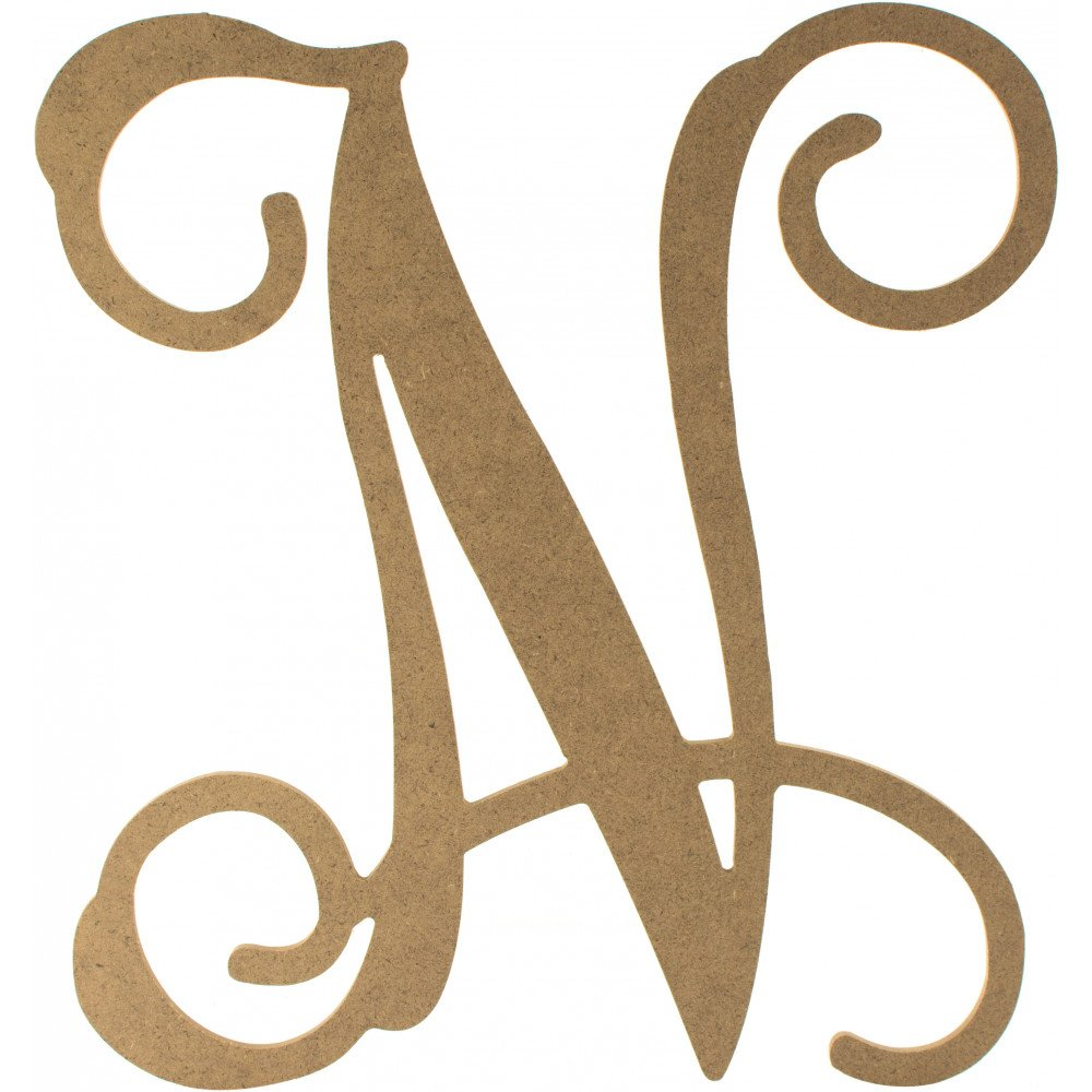 12 wood letter vine monogram n ab2209 for Monogram homes