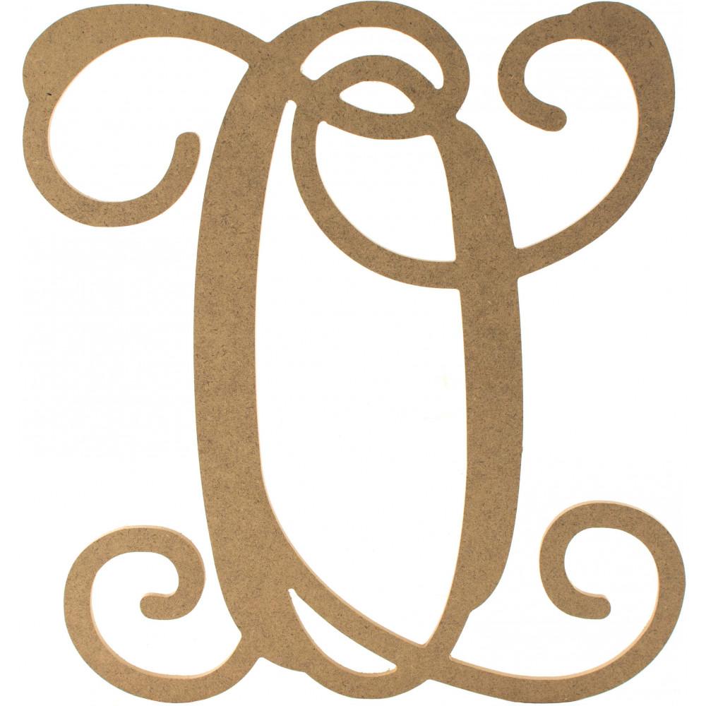 12quot wood letter vine monogram o ab2210 craftoutletcom for Letter o monogram