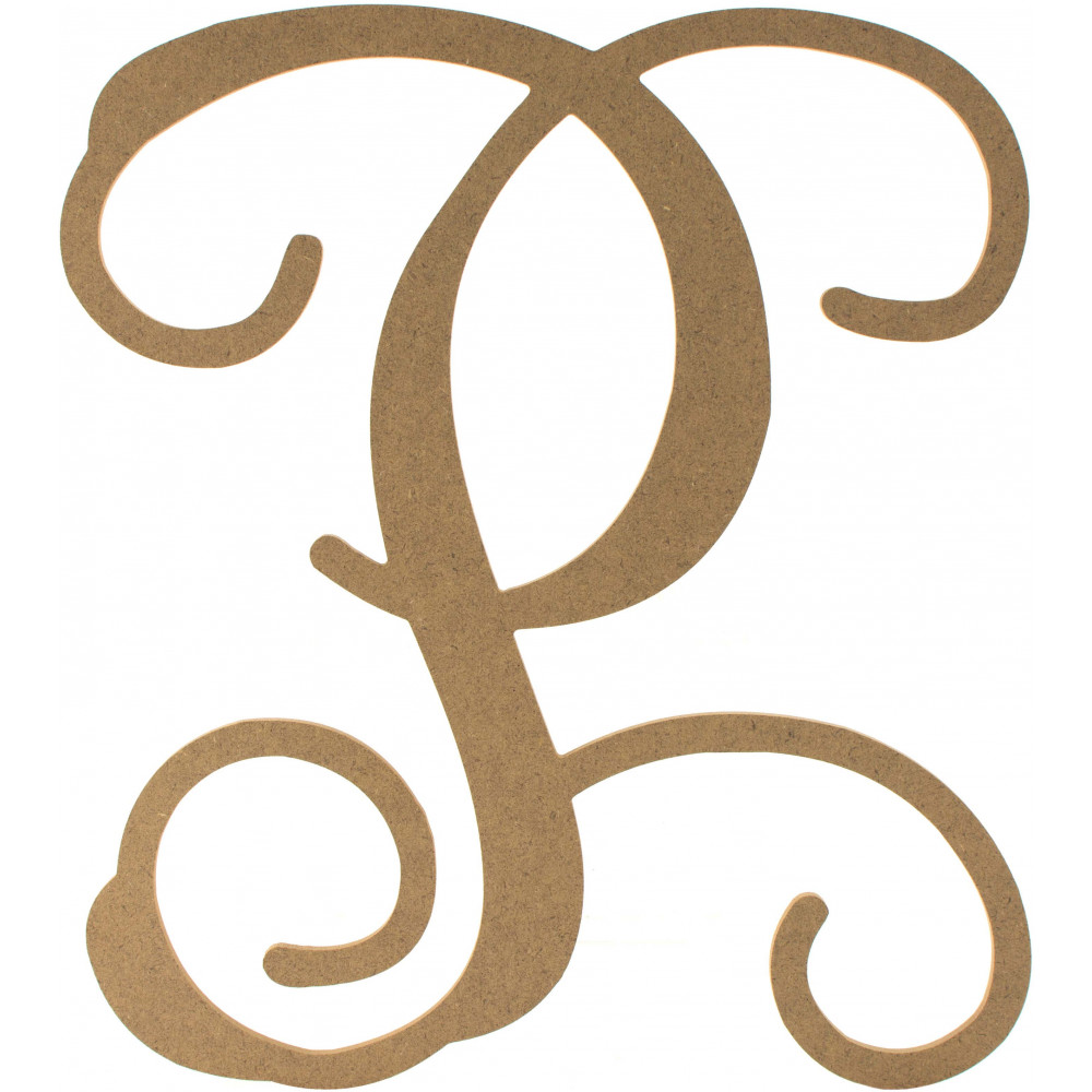 12quot wood letter vine monogram p ab2211 craftoutletcom With monogram letter p