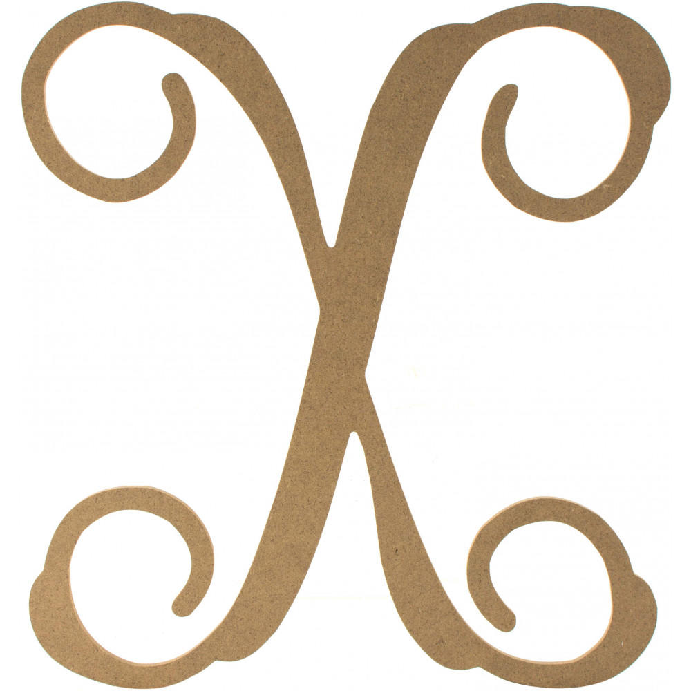 12 wood letter vine monogram x ab2219 for Monogram homes