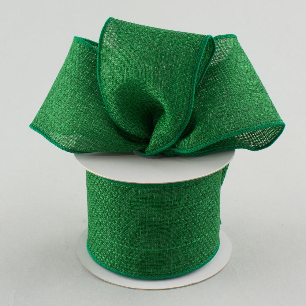 2 5 royal faux burlap ribbon emerald green 10 yards for Green burlap ribbon