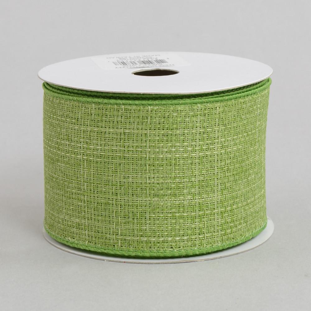 2 5 royal faux burlap ribbon fern green 10 yards for Green burlap ribbon