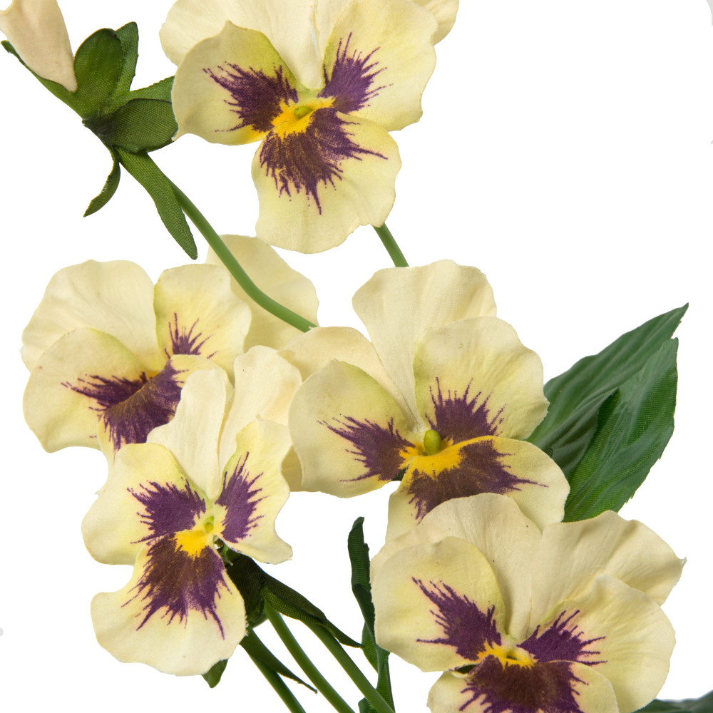14 Pansy Flower Bouquet Cream 4791 Cream Craftoutlet